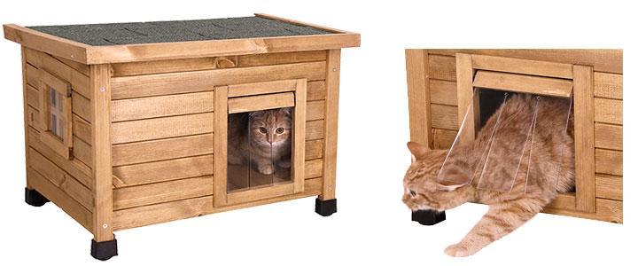 Casa de madera para gatos exterior