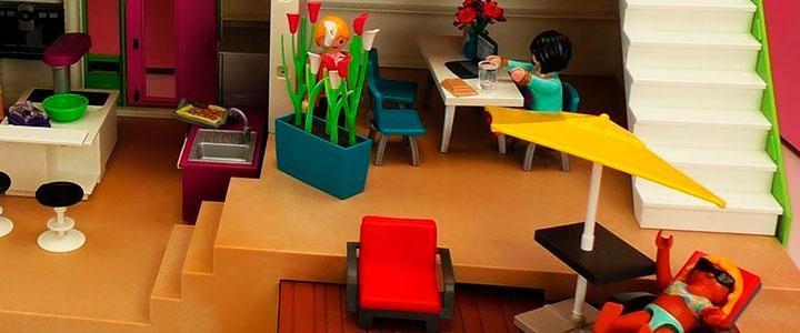 casa moderna playmobil por dentro