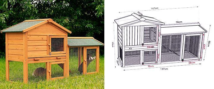 Casa para conejos enanos
