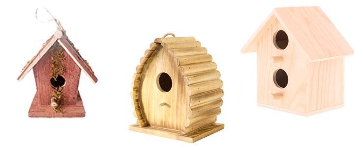 Casas para pájaros de madera