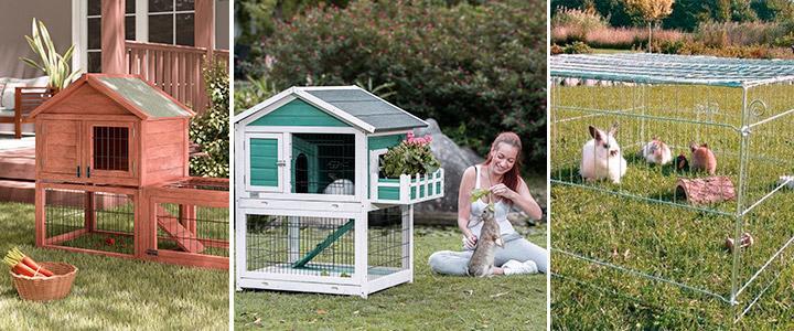 Que tipo de caseta para conejos de exterior comprar