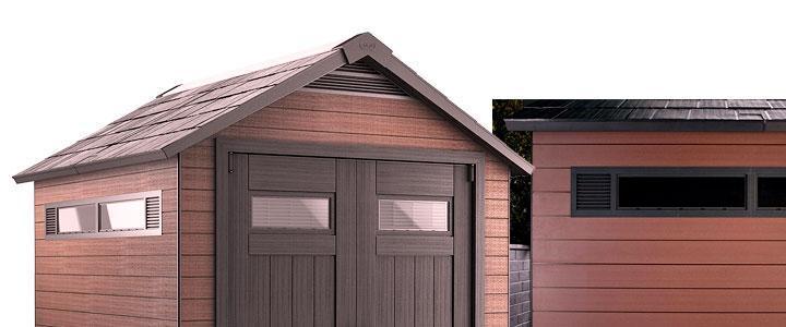 Casetas para jardín fabricadas con composite