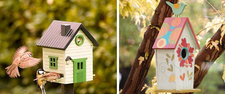 Casetas para pájaros de jardín