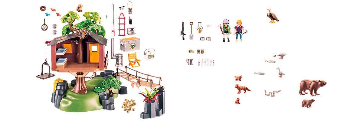 Casita del árbol playmobil 5557 piezas y montaje