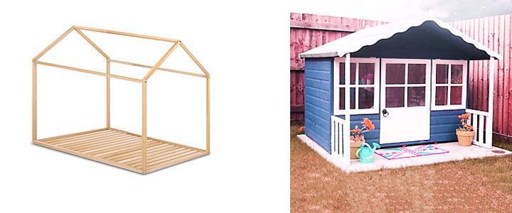 Casitas de madera para niños jardín o interior