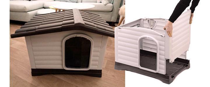 Casitas pequeñas de perros para interior y exterior