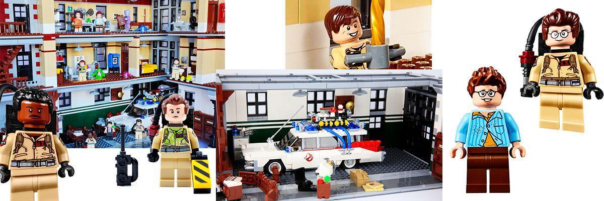Coche y munecos cazafantasmas LEGO