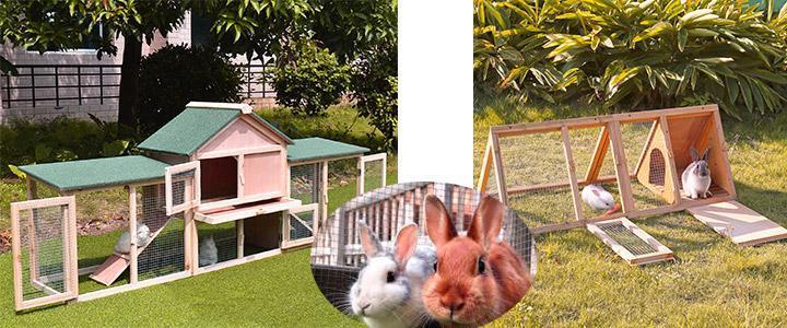 Conejeras y casas para conejos de exterior