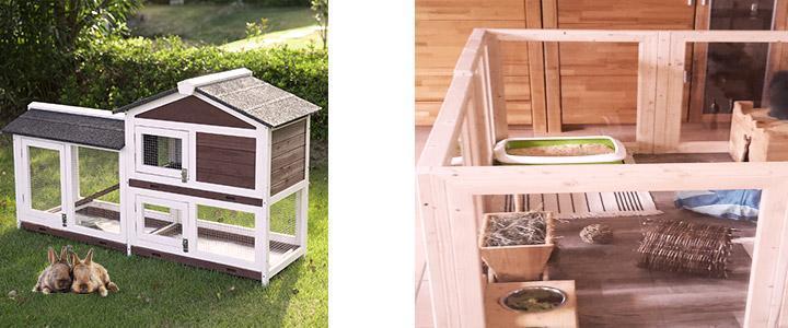 Conejeras de madera y casetas para conejos fabricadas en madera