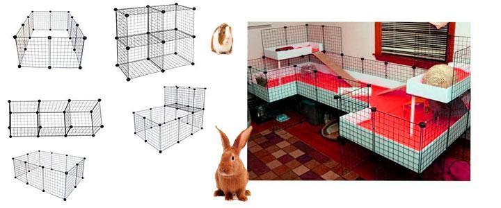 Conejeras metálicas y jaulas para conejos