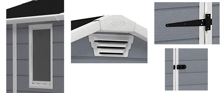 Keter caseta resina Manor 4x6 Slip, precio y características