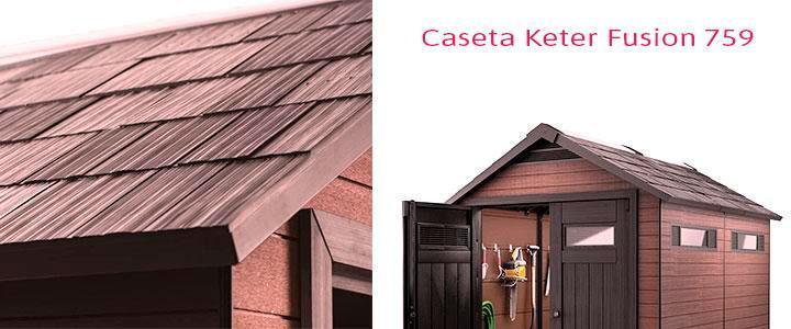 Precio Keter Fusion 7.5 x 9, cobertizo exterior composite