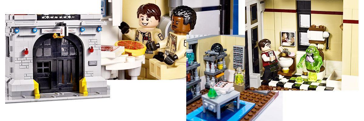 Lego 75827 por dentro de la estación de bomberos