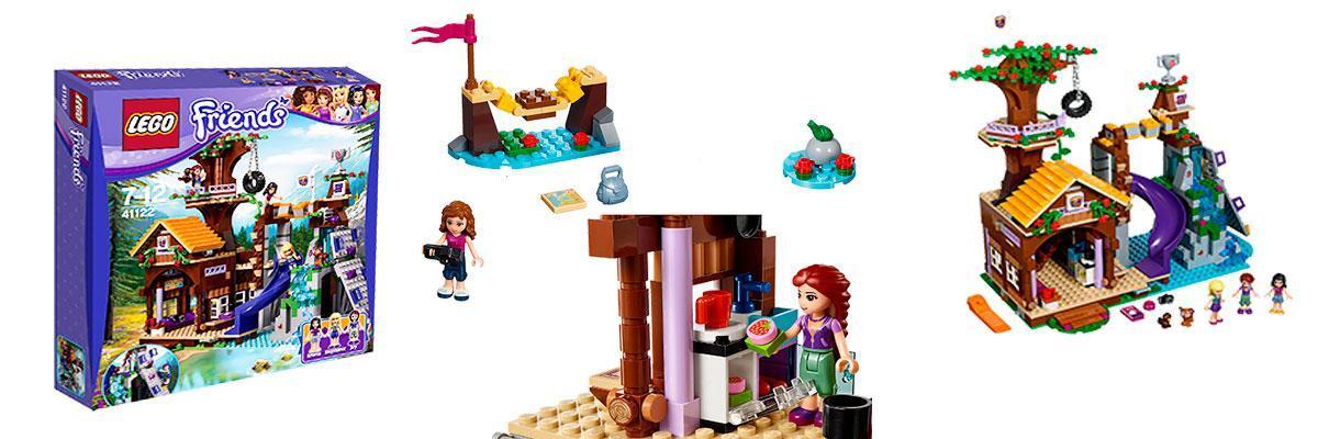 Lego Friends campamento de aventura casa en el árbol